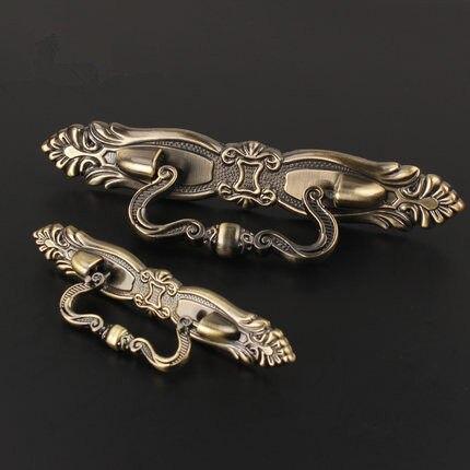 Tienda Online 115mm 5 unids europeo tallado bronce manijas de cajón ...
