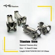 TiTo titane vélo Vélo tige Tige VTT montagne Route guidon Tige 25.4mm/31.8mm x Longueur 50/60/70/80/90/100/110/120mm