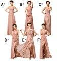 Barato Por Encargo! estilo de la mezcla larga Dividida Vestidos de colores de la boda vestido de dama de Honor, Vestido de fiesta vestido de partido de las mujeres Vestidos