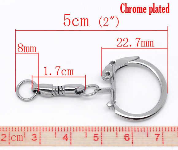 """Liga Chaveiros Chave Anéis Rodada cromado 5 cm (2 """") de Diâmetro, 2 PCs"""