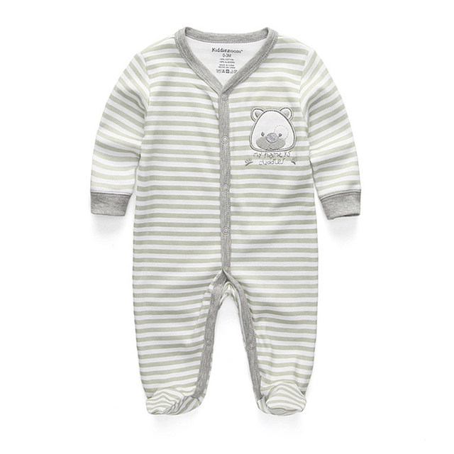 Newborn's Cotton Pyjama with O-Neck