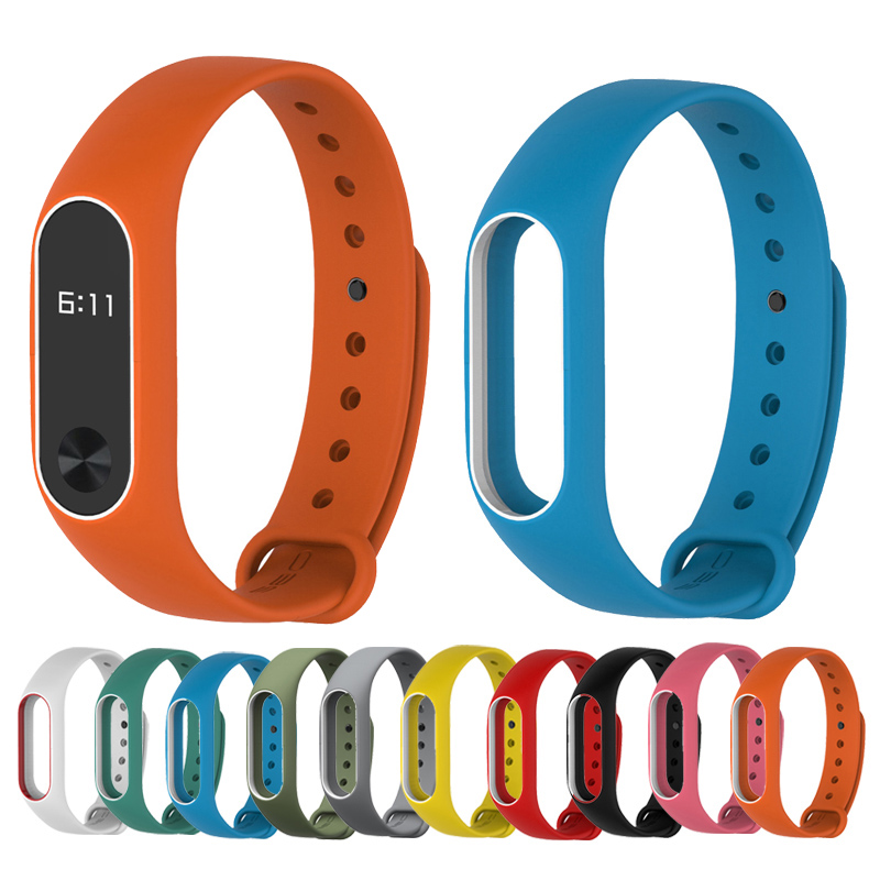 Colorful MiBand 2 Silicone Wrist Strap Bracelet Double Color Replacement watchband for Original Xiaomi Mi band 2 Wristbands belt miband 2 silicone wrist strap bracelet double color replacement watchband for original xiaomi mi band 2 wristbands belt rubber