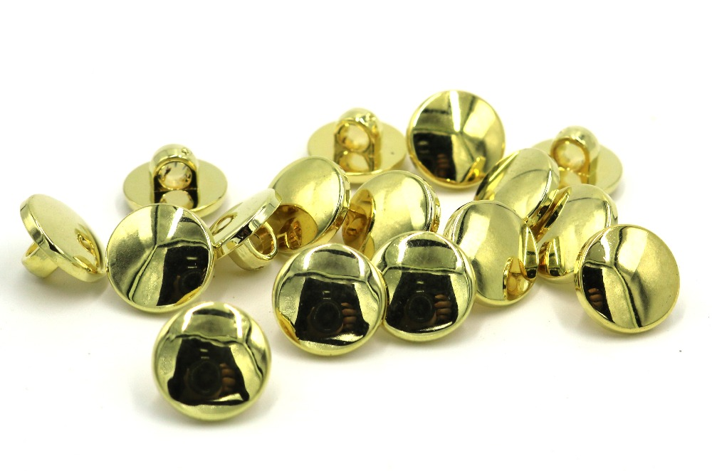 100pcs new style wholesale 11mm plating gold buttons apparel sewing accessories DIY crafts