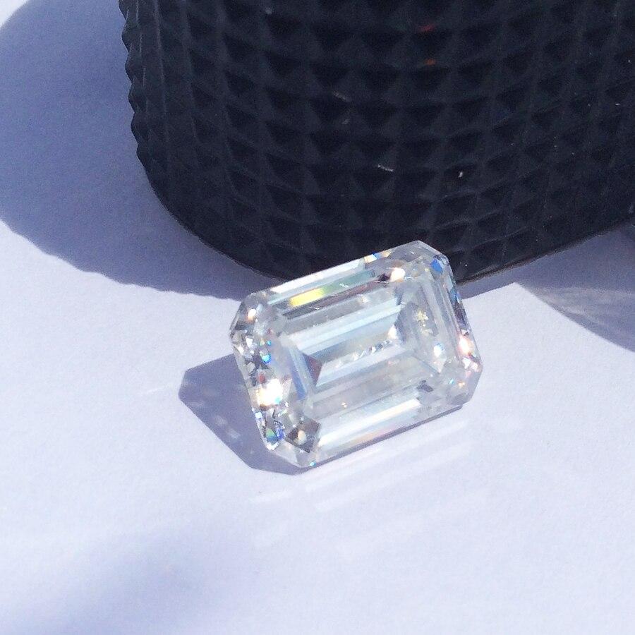 Couleur DEF 6*4mm 0.7 carat Emeralde excellente coupe Moissanites pierres précieuses en vrac pour la fabrication de bijoux testés positifs
