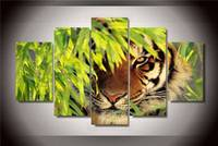 Hd Printed Bamboo Tiger Painting On Canvas Room Decoration Print Poster Picture Canvas Free Shipping/Ny-1569 NO Framed With