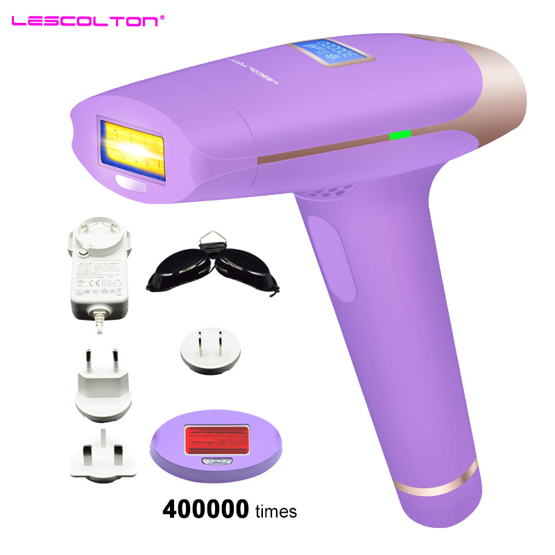 LCD Laser Epilator Hair Removal Permanent Bikini Trimmer 400000Pulses LCD 2in1 IPL Laser Hair Removal Machine depilador a laser ipl laser epilator hair removal lady lcd permanent device bikini hair trimmer machine electric depilatory depilador a laser