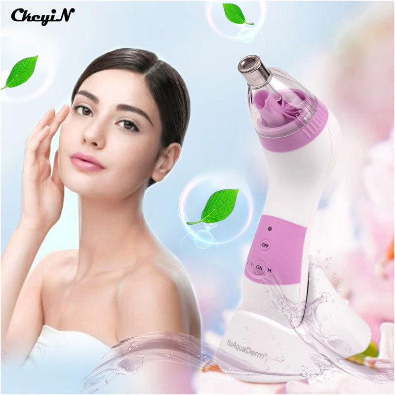CkeyiN 4 Tip Electronic Cleansing Instrument Face Beauty Device Face Lifting Deep Skin Pore Exfoliation Peeling Washing Machine personal care device skin purify beauty multifunctional skin care electronic tool blackheads removal pore cleansing exfoliation