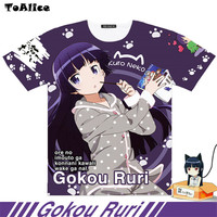 2 Type Brand Japanese Anime Oreimo Full Graphic T Shirts Ruri Gokou Cosplay Print Men T