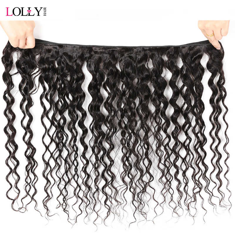 Lolly волосы бразильская холодная завивка пучки с закрытием не Реми Кружева закрытия с пучками сделки человеческие волосы пучки с закрытием