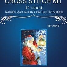 1 высокое качество прекрасный Счетный набор вышивки крестом Санта Пернатый друг Санта и фонарик в виде птицы Рождество Ночь DIM 0883