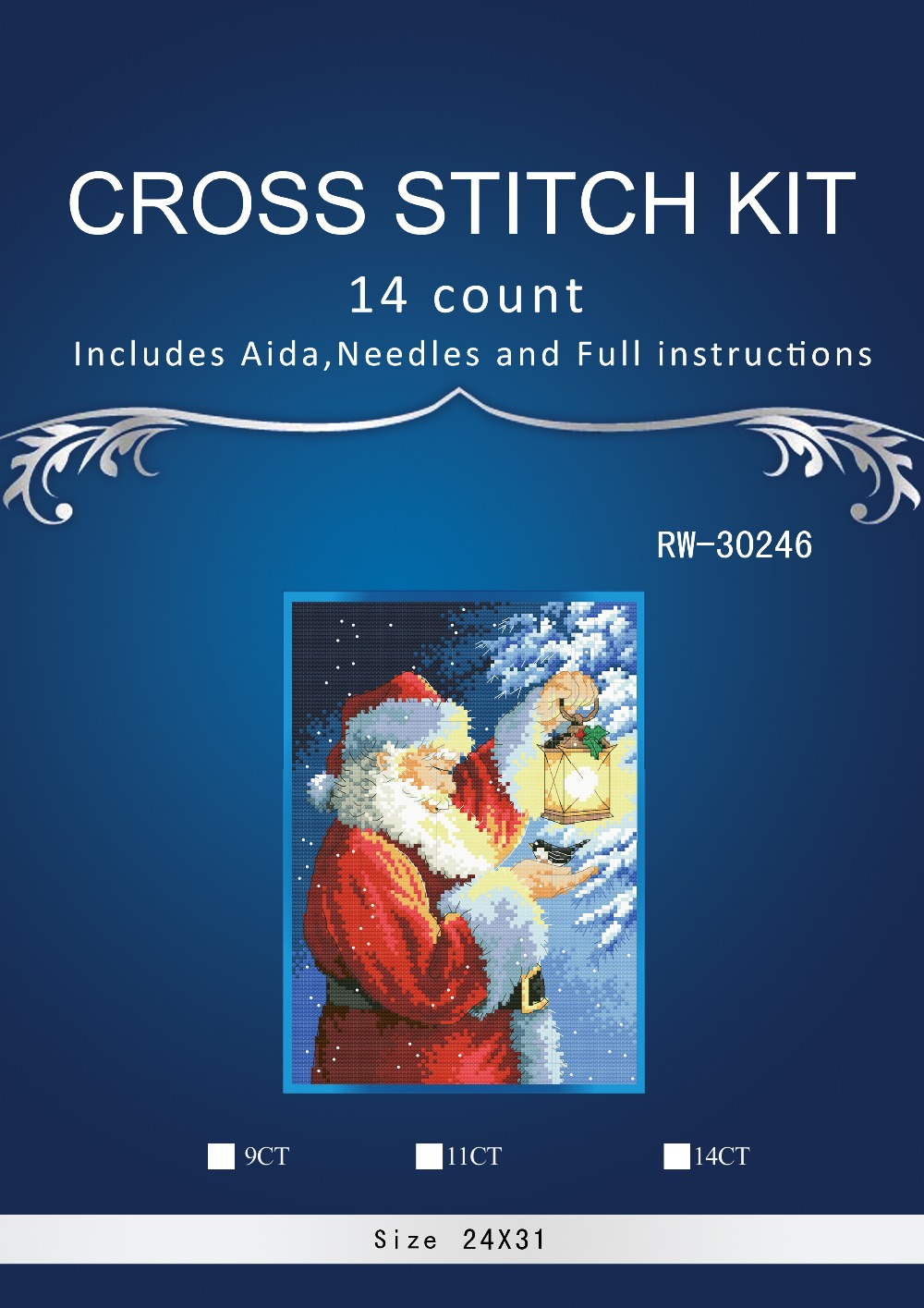 Home & Garden 1high Quality Lovely Counted Cross Stitch Kit Santas Feathered Friend Santa And Bird Lantern Christmas Night Dim 0883 Good For Antipyretic And Throat Soother
