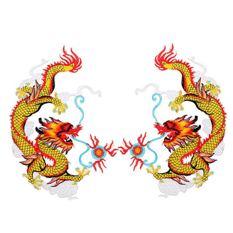 Applique Embroidery Dragon Patches for Clothing Coat Iron On Sewing On Sticke Ev