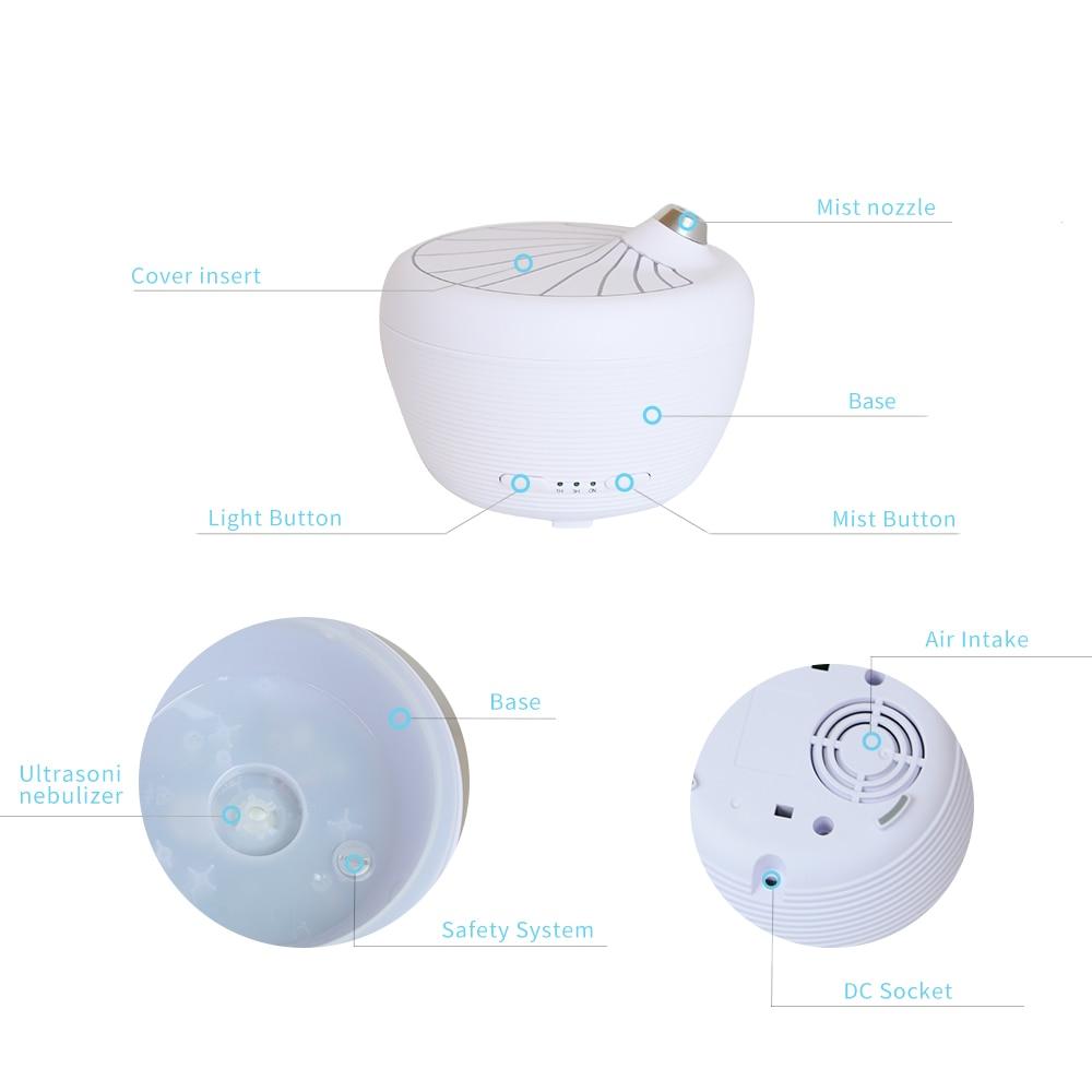USB Aroma Diffuseur d'huiles essentielles Humidificateur à ultrasons - Appareils ménagers - Photo 5