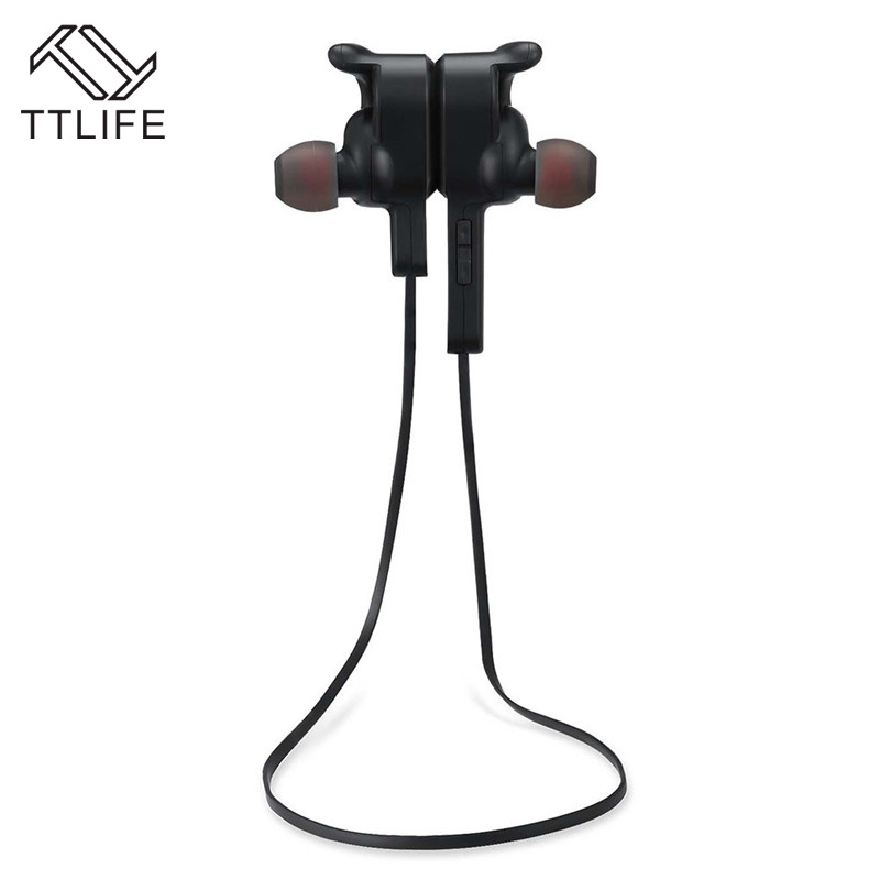 TTLIFE New Stereo Wireless Headset Bluetooth V4.1 Earphone Sports Sweatproof Handsfree Earbuds with Mic for IOS Android  Phones ttlife new mini stereo car kit bluetooth headset wireless earphone handsfree auriculares with mic with charging dock for iphone