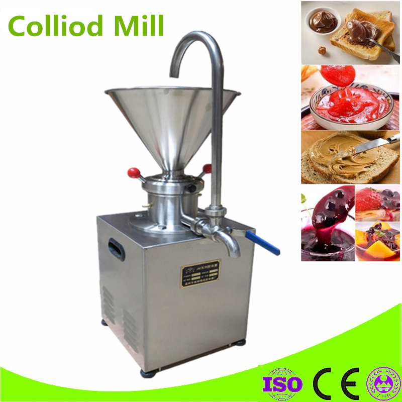 Commercial Blueberry Jam Colloid Mill Chocolate Tomato Grease Sesame Peanut Butter Grinder Machine hot sale 80 colloid mill peanut butter making machine bitumen sesame paste grinder machine