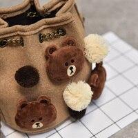 Cute Bear Rabbit Duck Crossbody Bag Kawaii Unisex Baby Messenger Bags Kids Children Shoulder Sac For