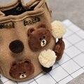 Coelho urso bonito saco crossbody Kawaii pato unissex sacos do mensageiro saco de ombro para as meninas das crianças dos miúdos do bebê meninos