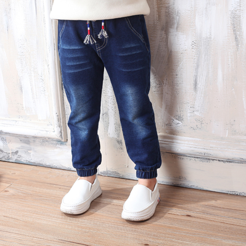 Baby Girls Boys Jeans 2017 New Year Spring Autumn Long Legging Jeans Pants Children Cotton Trouser For Fashion Kids Clothes
