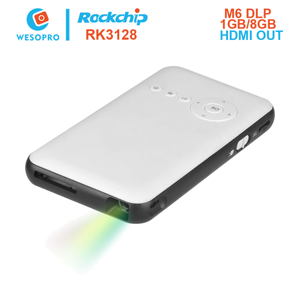 Buy wesopro m6 mini portable dlp for Dlp portable projector