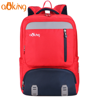 Aoking Kids Backpack Children School Backpack Elementary Schoolbag Cute Embroidery Red Backpack With Reflective Strip