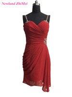 Red Cocktail Dress 2017 Short Party Dress Spaghetti Straps vestido de festa curto Free Shipping