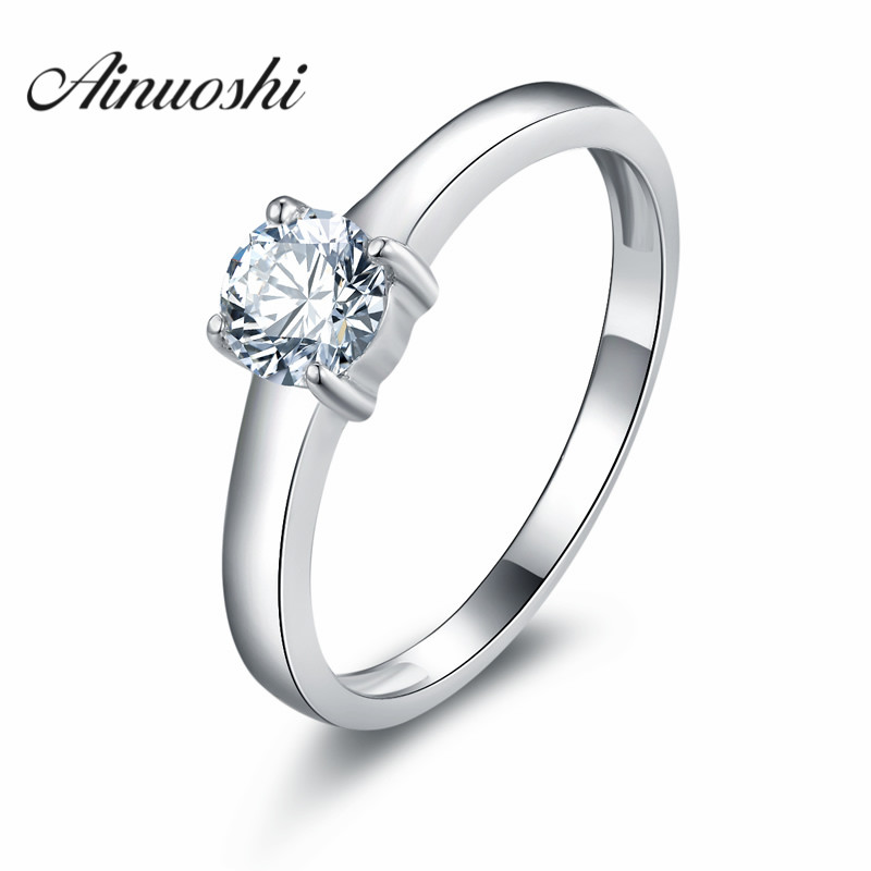 sona engagement ring simulated diamonds engagement rings for women romantic four claws ring discounts fashion gift - Discount Wedding Rings Women