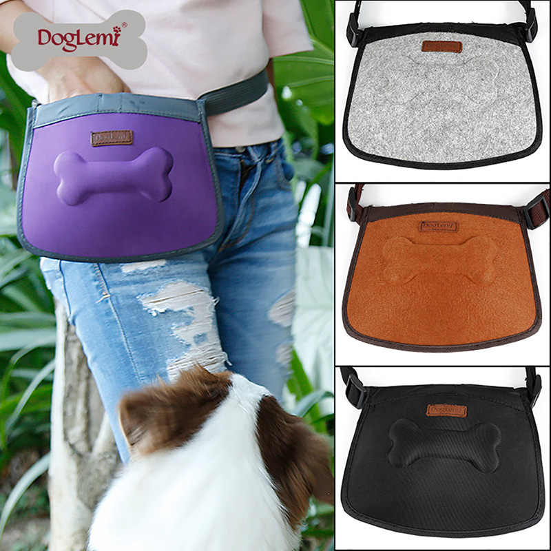 Dog Treat Bag Pet Training Pouch Bag  Outdoor Pouch Food Bag Hands-Free Walking Storage for Treats Toys Training Accessories