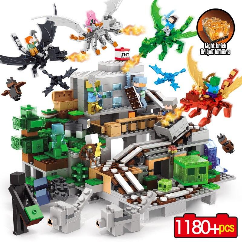 6 Dragons Mon Monde Série Blocs de Construction Compatible legoINGLY Organes De La Cave led Éducatifs Blocs de Construction Jouets