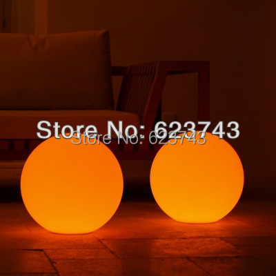 Free Shipping 4PCS Magic RGB led Ball,Glowing Sphere 50CM,waterproof  swimming pool stlools color changing D50cm led ball BY EMS