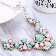 Женское винтажное ожерелье-чокер Hesiod, ожерелье в стиле бохо синего и розового цвета