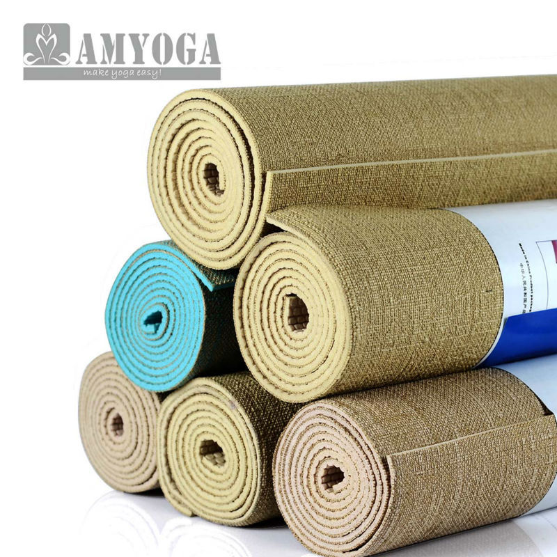 Organic Jute Yoga Mat Nature Yoga Mat Free Shipping And