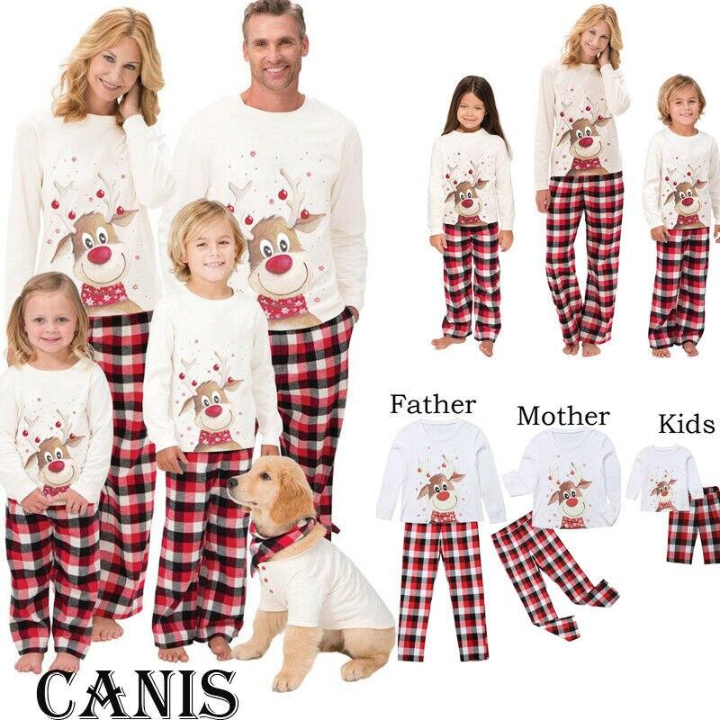 Christmas Family Matching   Pajamas     Set   Adult Women Men Sleepwear Long Sleeve Nightwear
