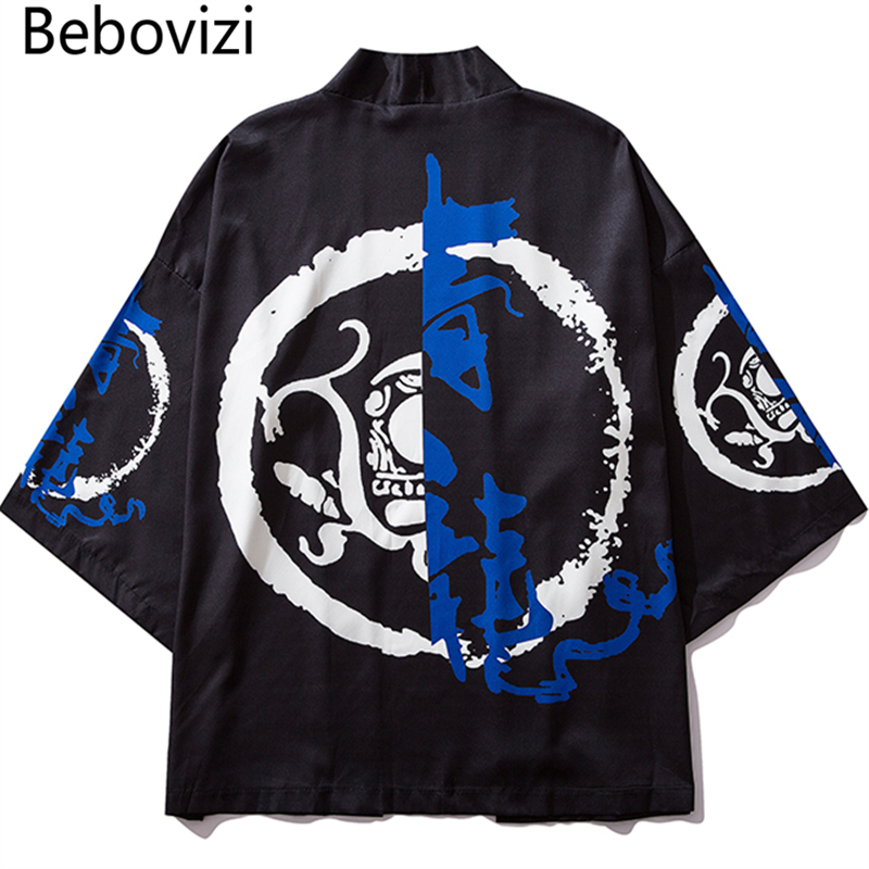 Bebovizi 2019 Casual Clothes Japan Style Thin Kimono Men Japanese Streetwear Chinese Hanfu Robe Jackets