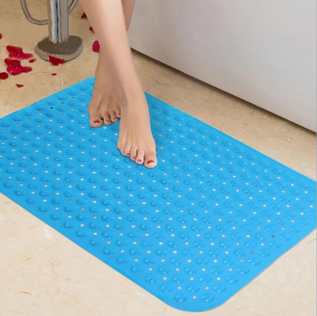 PVC Waterproof Bathroom Bath Mat Non Slip With Suction Cups Toilet Rugs  Free Shipping