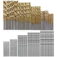 100 Pz/set di Titanio Rivestito Twist Punta Del Trapano Ad Alta Velocità in Acciaio Hole Opener Lavorazione Del Legno Metallo Plastica Strumenti Trapano Elettrico