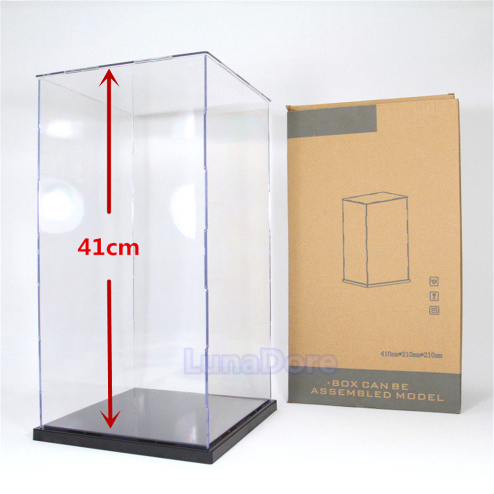 odoria ship from us acrylic assembly display case box 16 height perspex dustproof big size 1 60. Black Bedroom Furniture Sets. Home Design Ideas