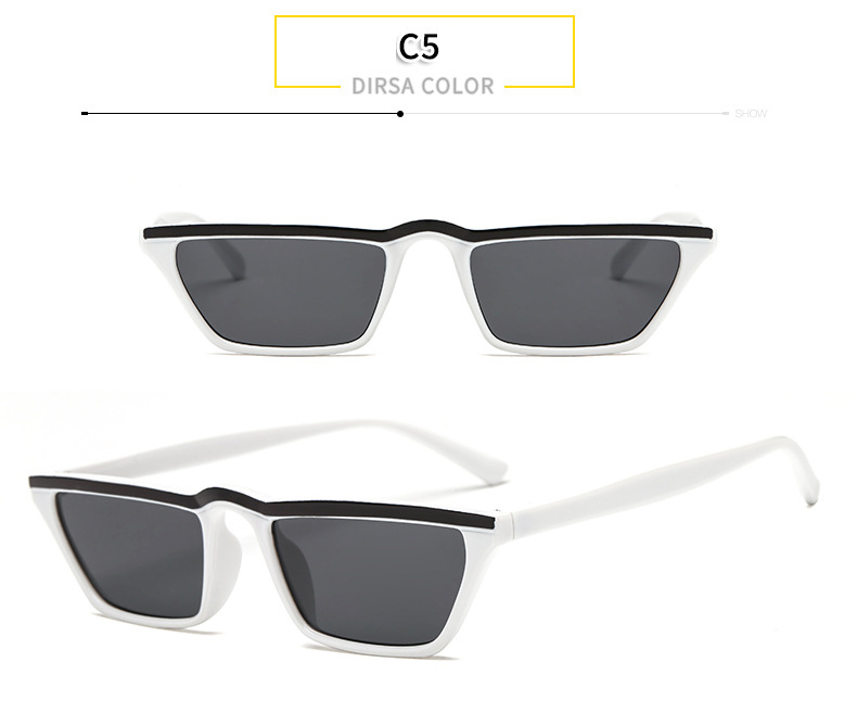 4bf0edd2af WHO CUTIE 2018 Small Rectangle Sunglasses Women Vintage Skinny ...