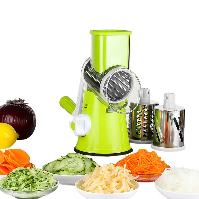 Vegetable grater machine stainless steel blades meat grinder fruit chopper