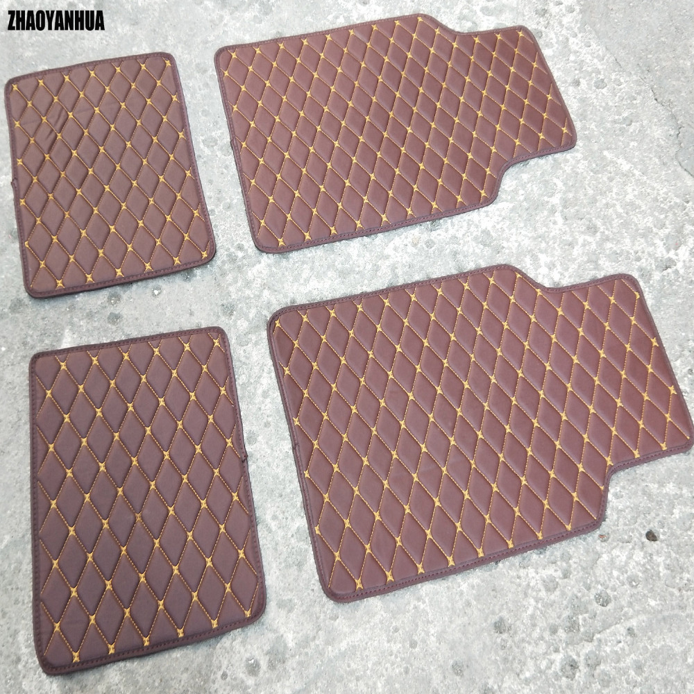 ZHAOYANHUA Custom fit Universal car floor mats for All Models Mercedes Benz A B C E class W211 W212 W204 W205 W176 carpet liners