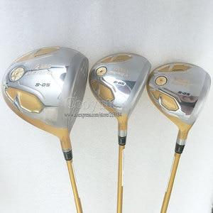 Image 2 - 新ゴルフクラブ本間 S 05 ゴルフフルセット 4 スターゴルフドライバーウッドアイアンパタークラブカーボンシャフト r または S のクラブセット無料