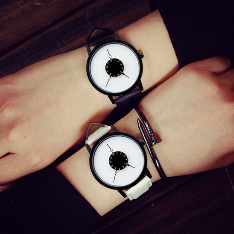 Fashion 3 Pointers Watches Concept Leather Unisex Quartz Wristwatch Men Couple Kids Watches Smart Electronics Fitness Watch