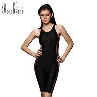 Athletic Competition Maillot De Bain Sports Bodysuit Long Boyshorts Swimwear Women Brand Swimsuit Slimming Bathing Suit