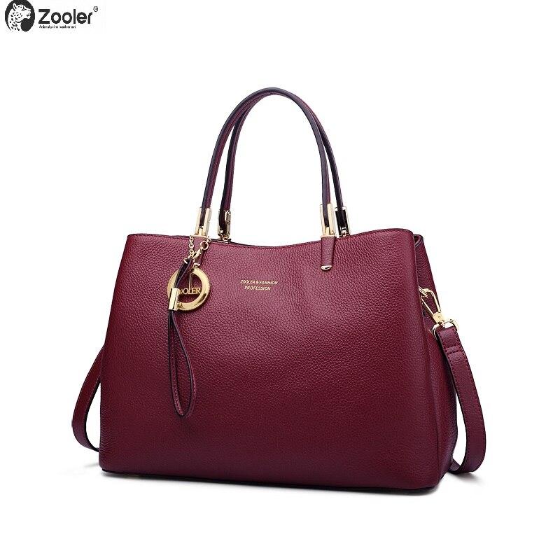 ZOOLER geniune women leather handbags luxury handbags women bags designer fashion style women shoulder bag ladies