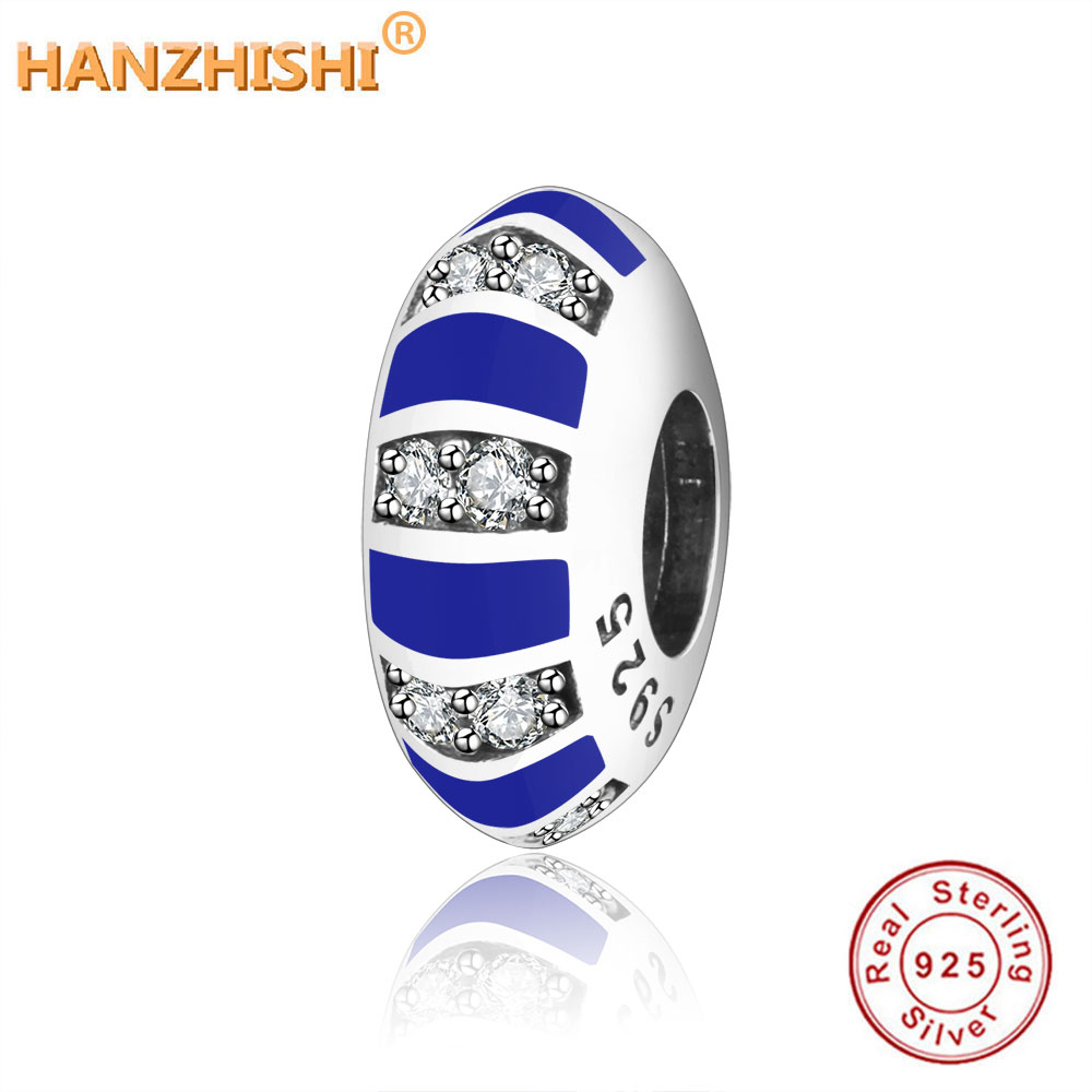 100% 925 Sterling Silver Beads Exotic And Stripes Charms Bead Fit Original Pandora Charm Bracelets DIY Women Spacer Charms Gift