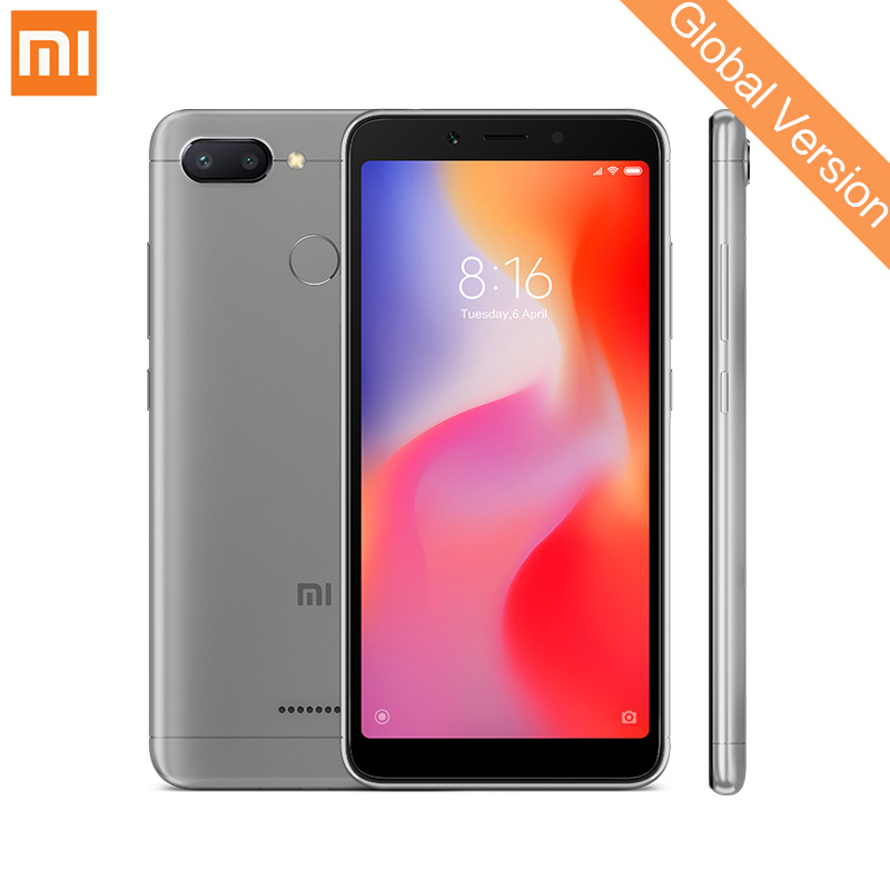 En Stock Mondial Version Xiaomi Redmi 6 4 gb 64 gb Smartphone MTK Helio P22 Octa Core 5.45 18:9 plein Écran 12MP + 5MP Double Caméra