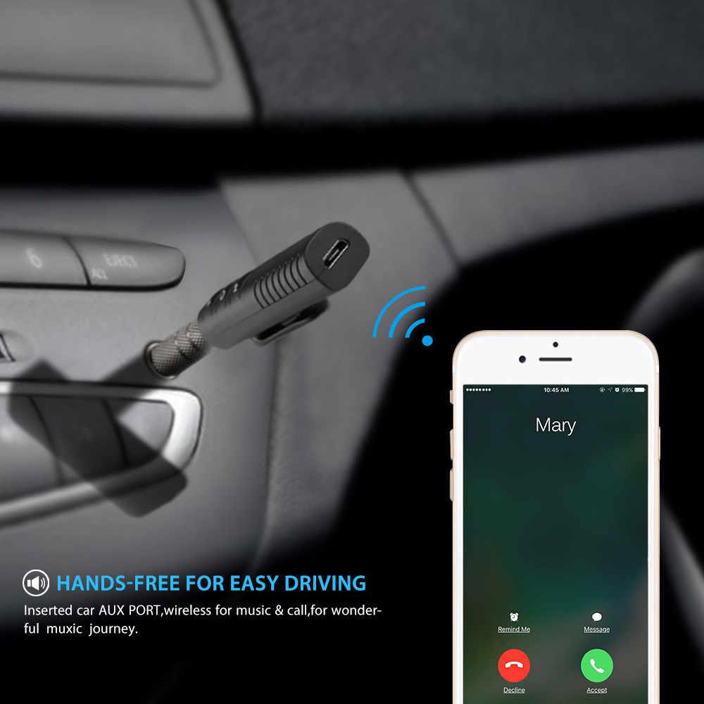 Мини 3,5 мм разъем Bluetooth автомобильный комплект Handsfree Музыка Аудио приемник адаптер авто Bluetooth AUX для динамика наушников автомобиля dvr камеры