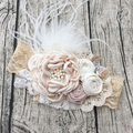 Бесплатная доставка Dupioni шелковый цветок девочка повязка на голову дети аксессуары для волос фото опора