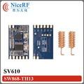 6 шт./лот SV610 100 МВт 1400 м междугородной TTL Интерфейс 868 МГц РФ Модуль
