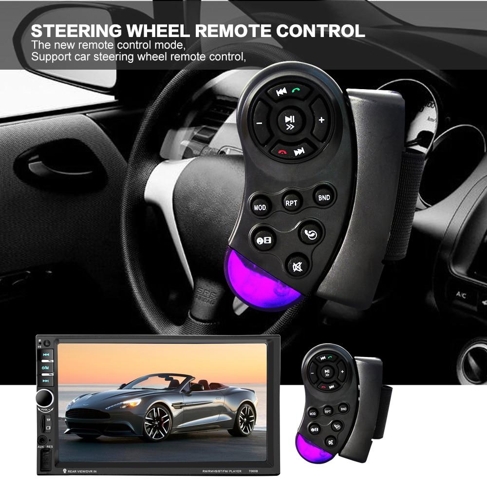 7 2 Дин HD с сенсорным экраном Bluetooth Автомобильный аудио стерео FM mp5-плеер Поддержка AUX / разъем USB / TF карт / телефон с камерой заднего вида