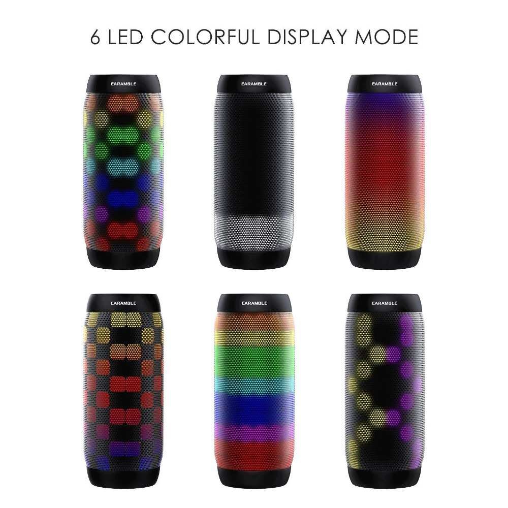 HOT Colorful Water Resistant Bluetooth Speaker Wireless NFC Super Bass Subwoofer Outdoor Sport Sound Box FM Portable Speaker